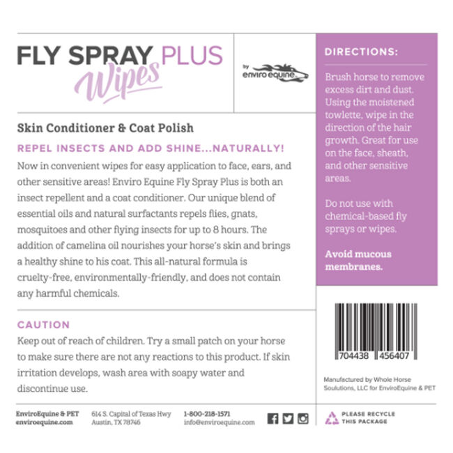 Enviro Equine Fly Spray Plus Wipes image number null