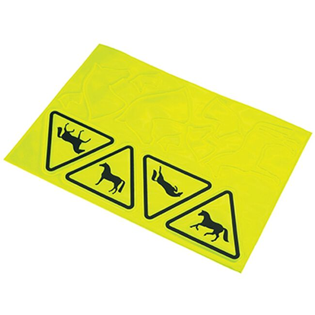 Kelley Equestrian Horse Caution Reflective Stickers image number null