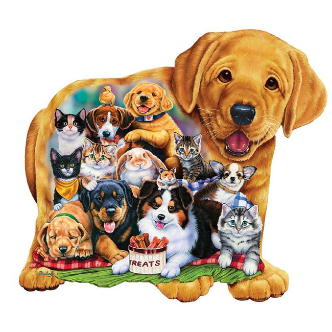 """""""Puppy Pals"""" 100 Piece Shaped Puzzle image number null"""