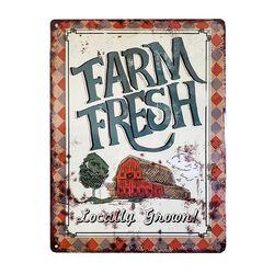 Fluffy Layers Farm Fresh - Locally Grown Metal Sign