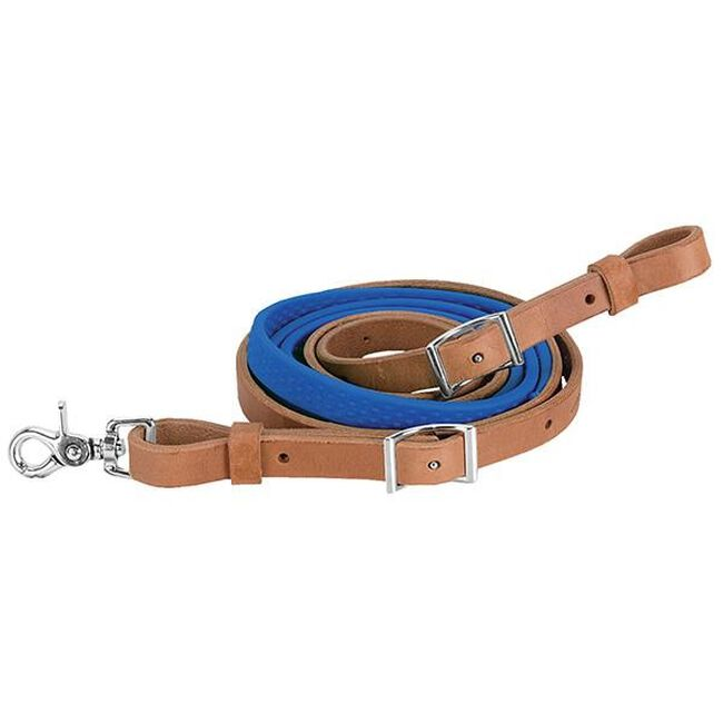 Weaver Leather Barrel Rein with Rubber Grip - Blue image number null
