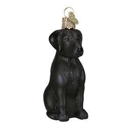 Old World Black Lab Ornament