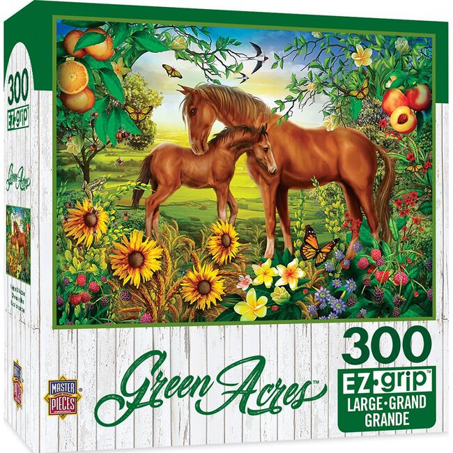 """Green Acres EZ Grip Linen Textured Puzzle - """"Neighs & Nuzzles""""  image number null"""