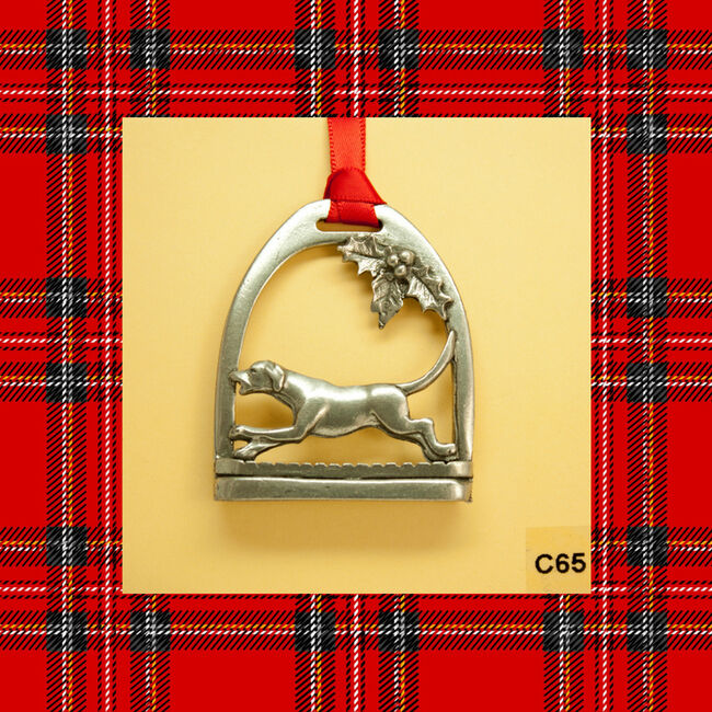 Loriece Hound in Stirrup Ornament  image number null