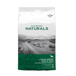 Diamond Naturals Large Breed Chicken and Rice Dry Dog Food 40 lb