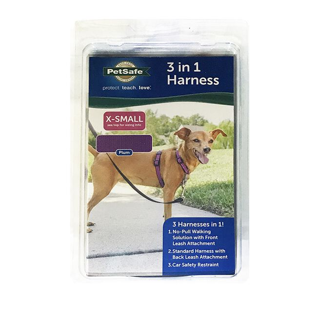 PetSafe 3 in 1 Dog Harness Plum image number null