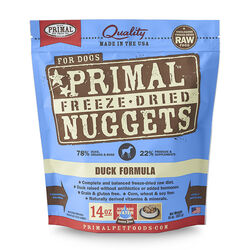 Primal Freeze Dried Duck Nuggets Dog Food