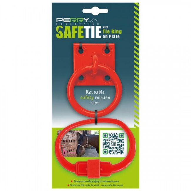 Perry Equestrian SafeTies with Tie Ring & Plate - Red image number null