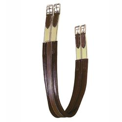 Tory Leather Double End Elastic Contour Girth