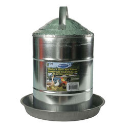 Farm Tuff Galvanized Poultry and Game Bird Waterer 2 Gal