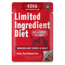 Koha Limited Ingredient Diet Shredded Beef Entrée in Gravy for Cats