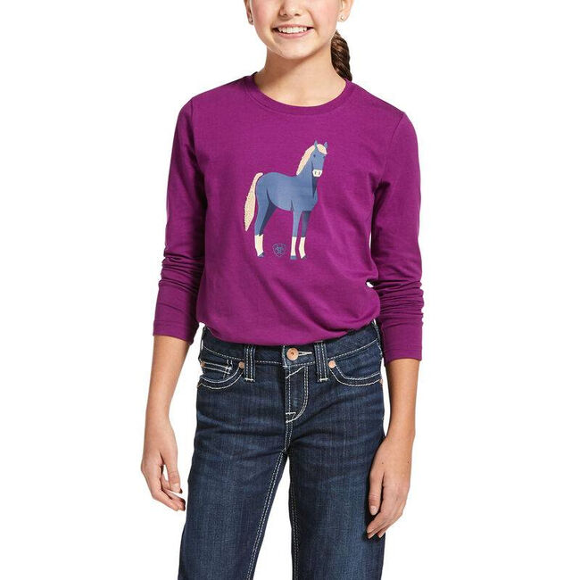 Ariat Kids' Chenille Horse T-shirt image number null
