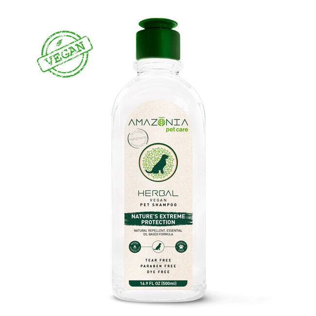 Amazonia Pet Care Vegan Herbal Shampoo for Dogs image number null