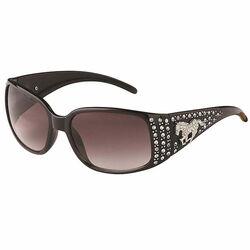 AWST Rhinestone Horse Sunglasses - Black