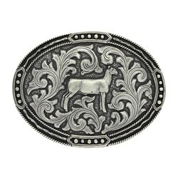 Montana Silversmiths Antiqued Classic Show Lamb Attitude Buckle