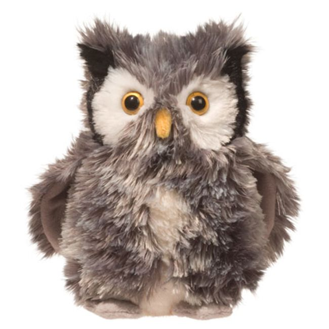 Douglas Agatha Silver Owl Plush Toy image number null