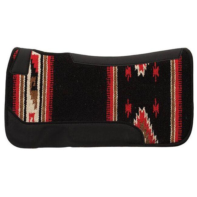 Weaver Leather Contoured Single Weave Wool Blend Felt Saddle Pad - Black Pattern image number null