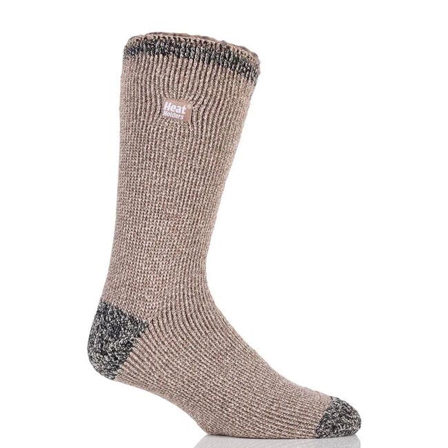 Heat Holders Men's Original Twist Socks - Clay/Black Twist image number null