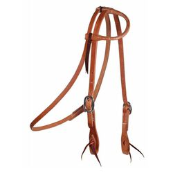 Professional's Choice Cowboy Laced One-Ear Headstall with Throat Latch