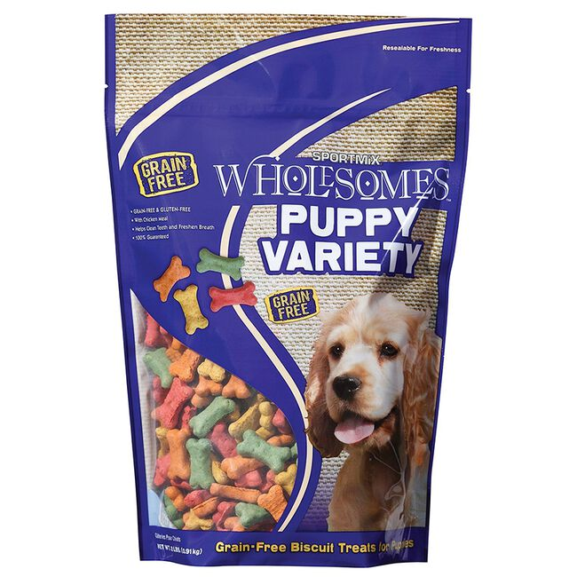 Sportmix Wholesomes Variety Dog Biscuit Treats - Puppy (2lb) image number null