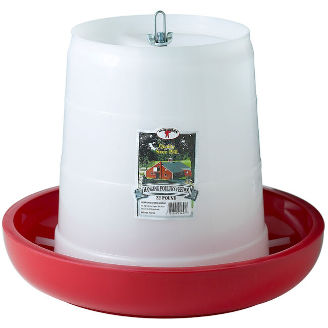 Little Giant 22 Pound Plastic Hanging Poultry Feeder  image number null