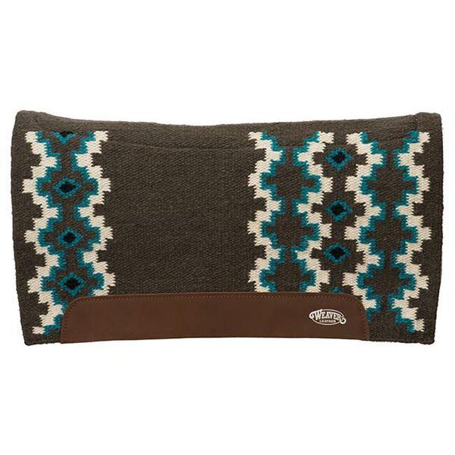 Weaver Leather Flex Contour Wool Blend Felt Saddle Pad - Black/Melon image number null