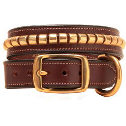 Tory Leather Clincher Dog Collar
