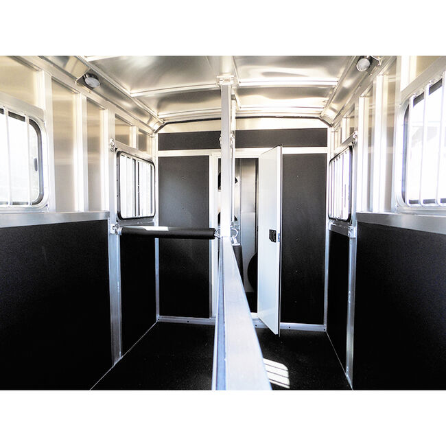 """Rental Trailer - 2019 Shadow StableMate Silver 2 Horse Straight Load Bumper Pull Trailer w/ 54"""" Dressing Room image number null"""