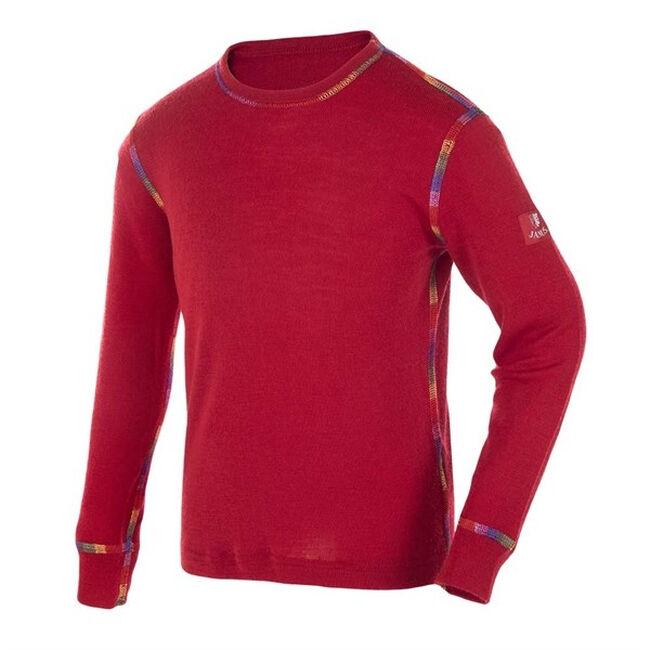 Janus Kids' Rainbow Wool Long Sleeved Shirt - Red image number null