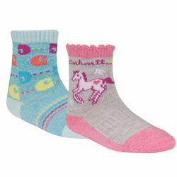 Carhartt Girl's Gripper Crew Socks - 2 Pack
