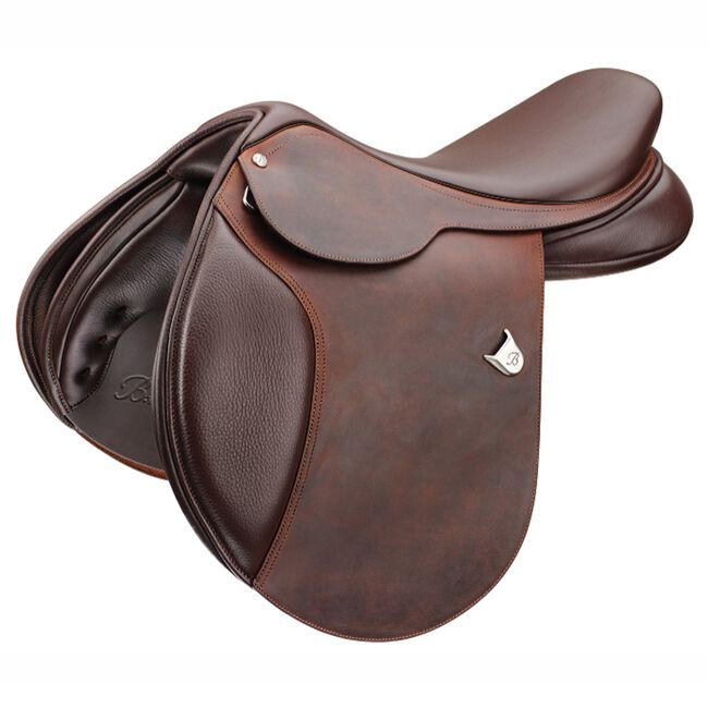 """Bates Caprilli Close Contact Classic-Brown-17""""-Standard-Heritage Leather image number null"""