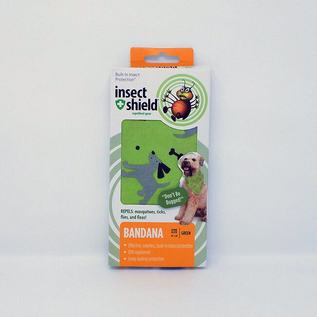 Insect Shield Dogs & Bones Pet Bandana Green image number null