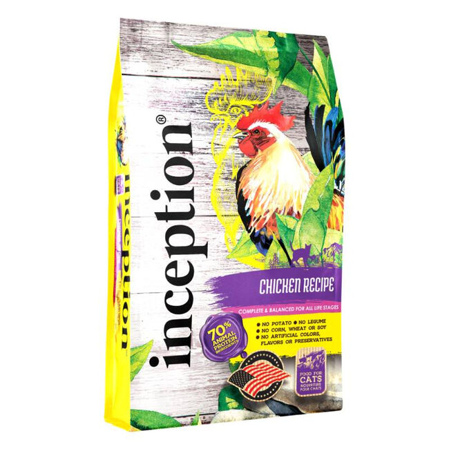 Inception Chicken Recipe Dry Cat Food image number null