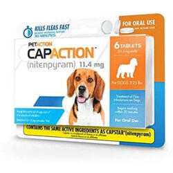 CapAction Oral Flea Treatment for Dogs and Cats