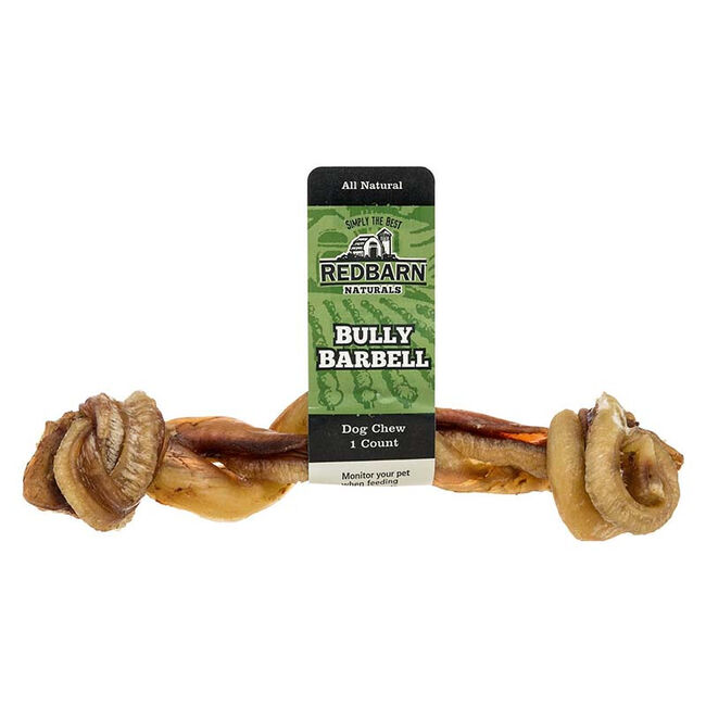 Redbarn Barbell Bully Stick Dog Treat image number null