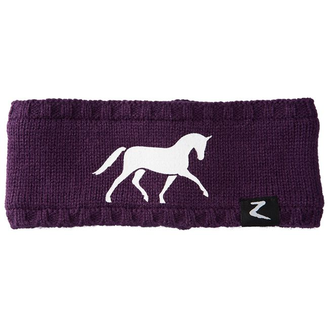 Horze Cornelia Junior Knitted Headband - Sultry Violet image number null