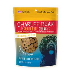 Charlee Bear Crunch Bacon and Blueberry Grain Free Dog Treat