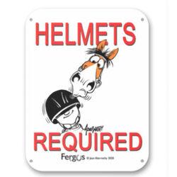 "Kelley Equestrian ""Helmets Required"" Fergus Sign"