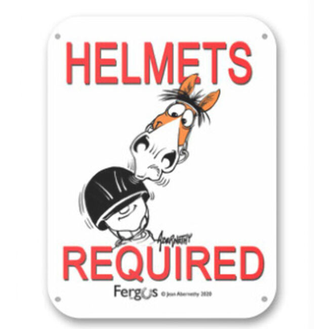 """Kelley Equestrian """"Helmets Required"""" Fergus Sign image number null"""