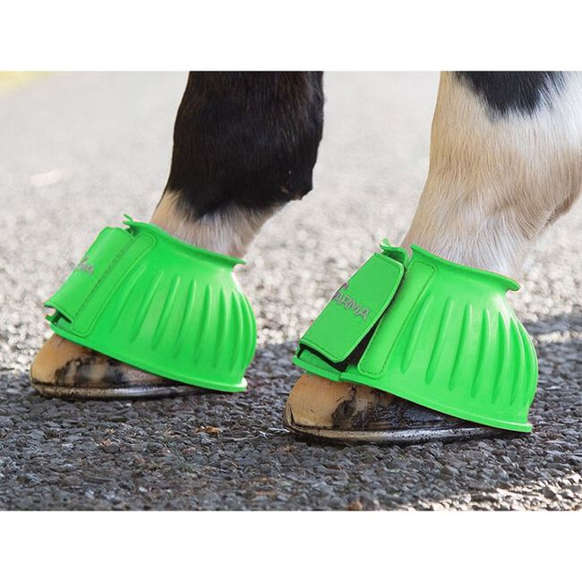 Shires ARMA Touch Close Bell Boots -  Lime Green image number null