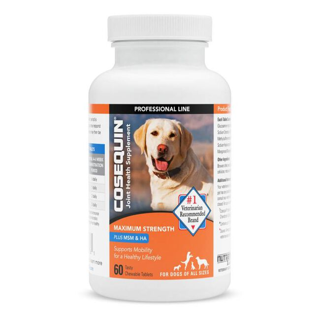 Cosequin Maximum Strength Plus MSM & HA Chewable Tablets image number null