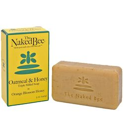 Naked Bee Oatmeal And Honey Triple Milled Bar Soap 5 oz