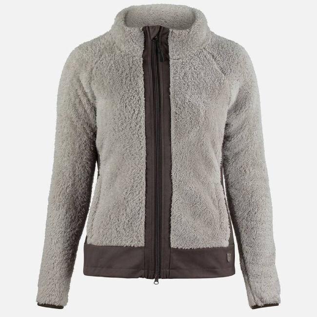 Horze Deanne Women's Softshell Fleece Jacket - Feather Gray image number null