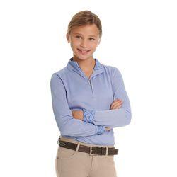 Ovation Kids' Cool Rider Tech Long Sleeve Shirt - Periwinkle - Closeout