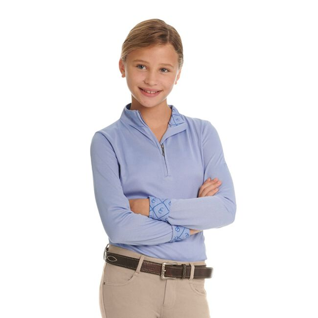 Ovation Kids' Cool Rider Tech Long Sleeve Shirt - Periwinkle image number null