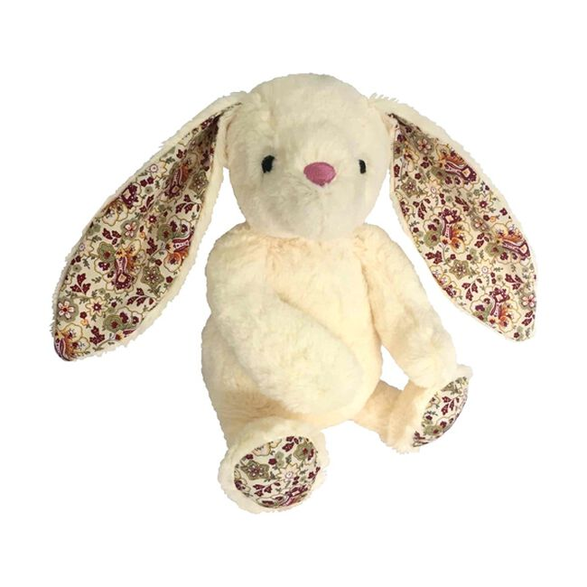 Paisley Bunny Plush Dog Toy - White image number null