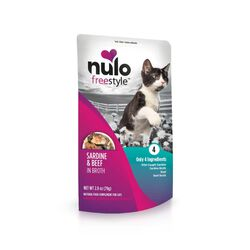 Nulo Freestyle Meaty Topper for Cats - Sardine and Beef in Broth Recipe