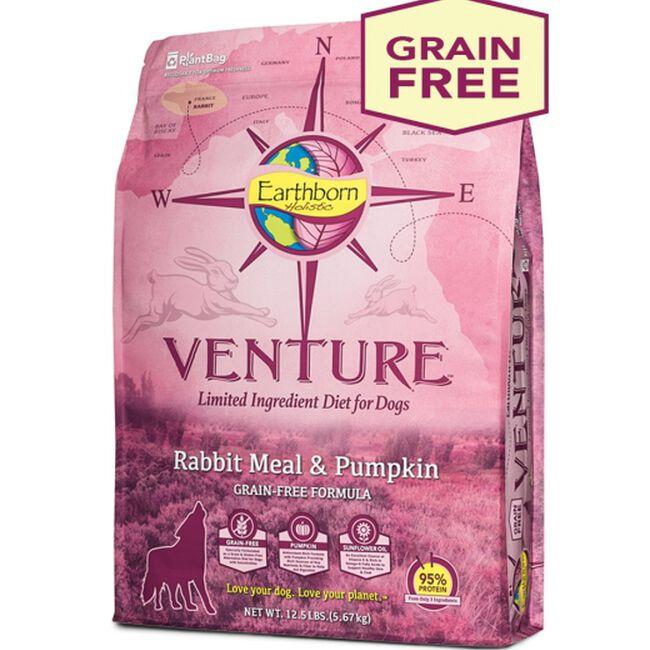 Earthborn Holistic Venture Rabbit Meal & Pumpkin Grain Free Dry Dog Food image number null