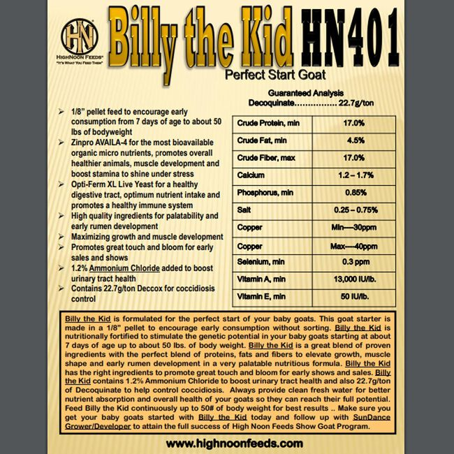 High Noon Billy the Kid Perfect Goat Starter image number null