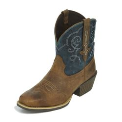 Justin Chellie Rustic Western Boot